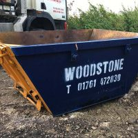 empty woodstone skip hire skip
